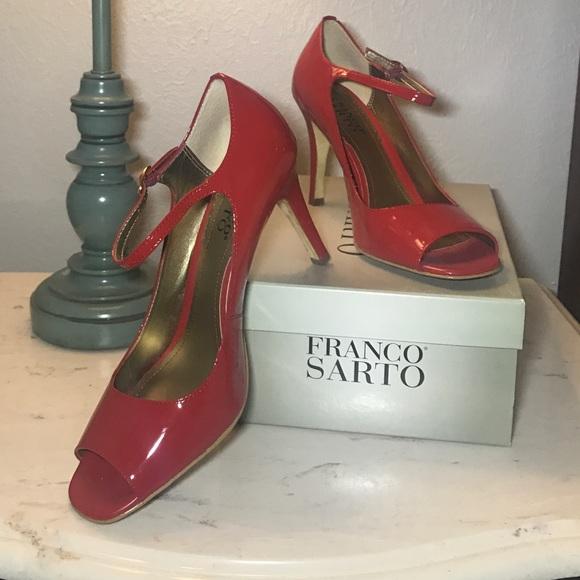 00daa6c0b11 Franco Sarto Shoes - Franco Sarto Circus Red Patent Peep Toe